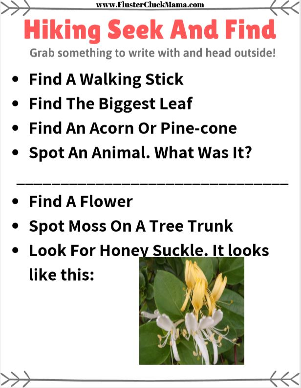 image relating to Look and Find Printable named Mountaineering Look for And Come across Printable FlusterCluckMama