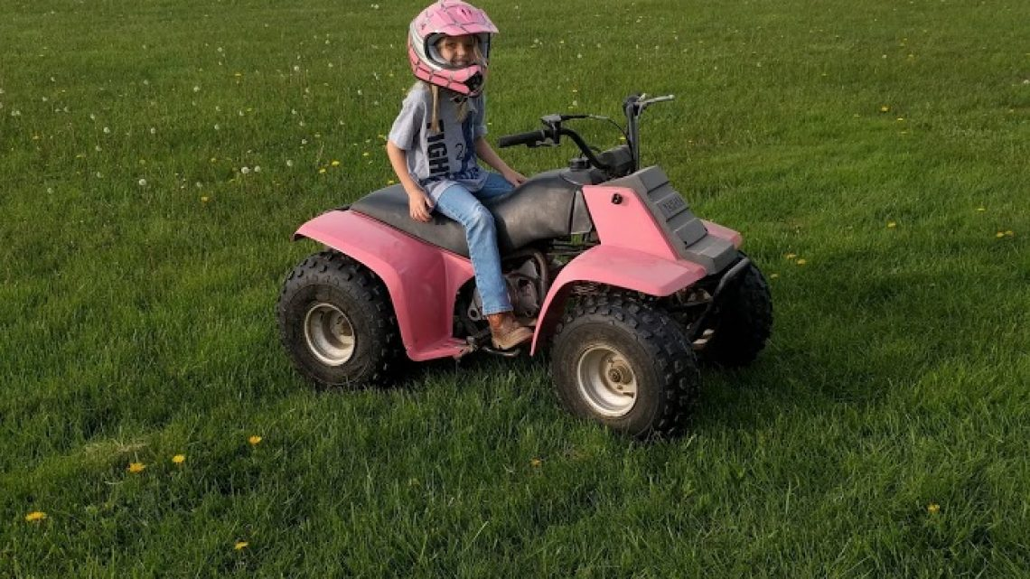 Get your kids outside fourwheeler